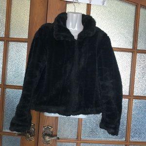 Super Cute Faux Fur Coat - Sz Med